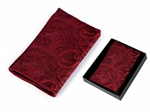 Paisley zsebkendő zakóba dobozban
