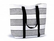 Letná / plážová taška s pruhmi