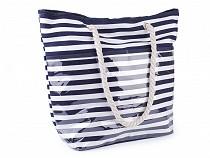 Letní / plážová taška s pruhy 41x52 cm