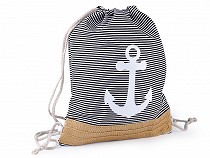 Drawstring Bag Anchor 32x42 cm
