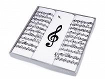 Batiste bărbați, imprimeu note muzicale