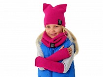 Girls Winter Set Hat, Snood, Gloves