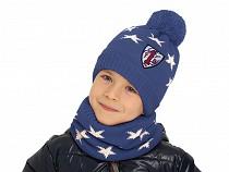 Boys Set Hat with Pom Pom & Snood