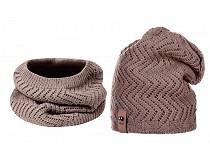 Komplet damski zimowy czapka i szalik