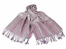 Šál typu pashmina so strapcami 65x170 cm