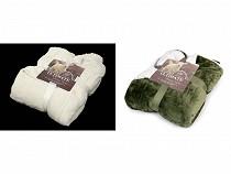 Pătură cu blană sintetică, 150x200 cm