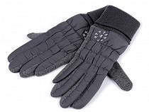 Rękawiczki damskie pikowane płatki śniegu
