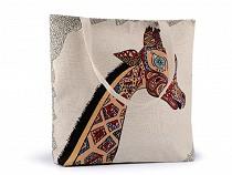 Linen Bag Owl, Cat, Fox 43x44 cm 2nd quality