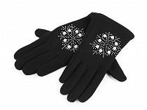 Mănuși cu pietricele și perle pentru fete