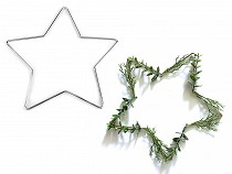Kovová hviezda na tvorenie a lapače snov Ø20 cm