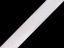 Klettverschluss Plüschteil Breite 20 mm weiß