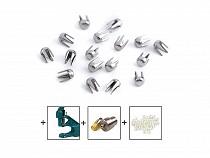 Metalowe koszyczki Ø2mm do nabijania perełek