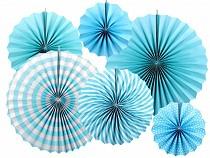 Decorative Paper Rosette - set of 6 pcs