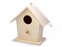 Budka dla ptaków drewniana dekoracja