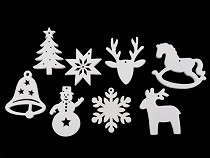 Wooden Cut Out - Christmas Snowflake, Star, Tree, Bell, Reindeer
