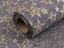 Jute Imitation width 48 cm Stars