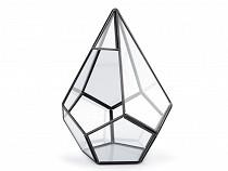 Hängende Glaspyramide / Terrarium 16x18 cm