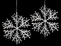 Hanging Snowflake with Glitter Ø14,5 cm