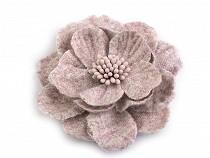 Gyapjú virágok porzókkal Ø60 mm