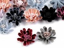 Flori textile 3D, Ø33 mm