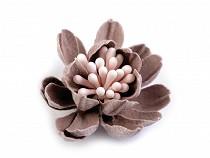 Kwiatek tekstylny 3D pręciki w kolorze kwiatka Ø33 mm