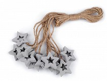 Hanging Wooden Ornament - Star, Angel, Rocking Horse
