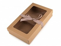Folding Paper Box with Window and Ribbon