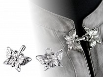Metal Butterfly Hook and Eye Closure