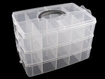 Plastic Stackable Storage Container / Box 3-level