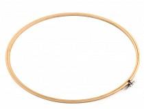 Vyšívací kruh bambusový, extra velký Ø33 cm