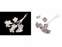 Luxus virág hosszú dróton / félkséztermék