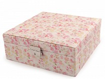 Jewellery Box with Flowers 8x21x21 cm