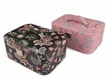 Kuferek na biżuterię paisley kwiaty 11x18,5x25,5 cm