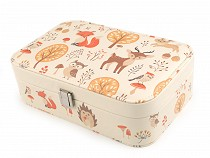 Jewellery Box with Animal Theme Fox, Deer, Owl 7x14.5x22.5 cm