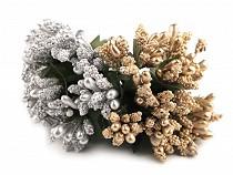 Kvetinové piestiky na drôtiku metalické