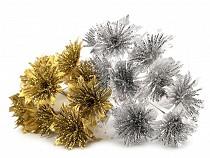 Karácsonyi virág dróton glitterekkel