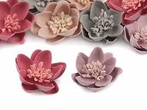 Deco Clothing Flower Applique with Pistils / Stamen Ø30 mm