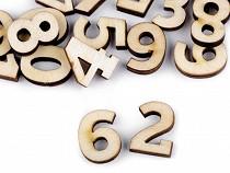Cyfry drewniane małe