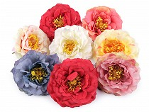 Artificial Craft Fake Tea Rose Flower Heads Ø10 cm