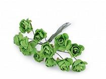 Róże na druciku / półprodukt do kotylionów Ø16 mm