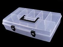 Cutie din plastic compartimentată cu capac