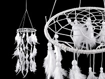 Carousel Dreamcatcher with Feathers and Beads