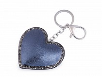 Přívěsek na kabelku / klíče srdce metalické