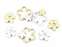 Wooden Flower Cut-out Set