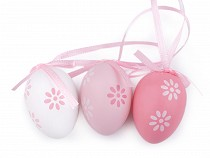 Jajeczka wielkanocne małe z wstążką satynową