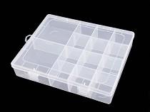 Cutie plastic compartimentată, 4x17x21 cm