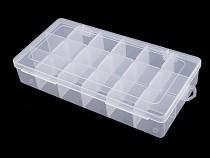 Plastový box / zásobník 12,5x23x4 cm