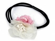 Hair Tie / Elastic Hair Band with Flower