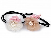 Gumička do vlasů s květy