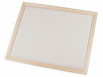 Fa keret / faliújság díszítésre 32x36 cm